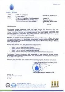 SURAT PROGRAM PKK JAKBAR (PALMERAH & KALIDERES)